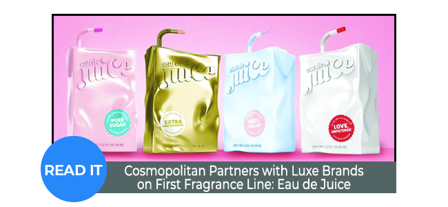 Cosmopolitan Partners with Luxe Brands on First Fragrance Line