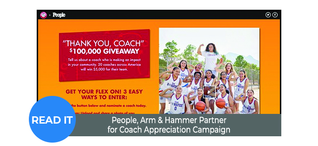 People, Arm & Hammer Partner for Coach Appreciation Campaign