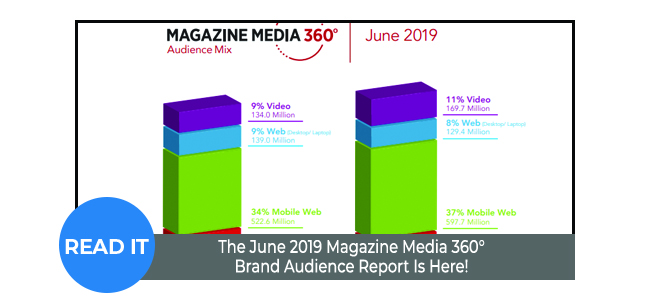 The June 2019 Magazine Media 360° Brand Audience Report Is Here!