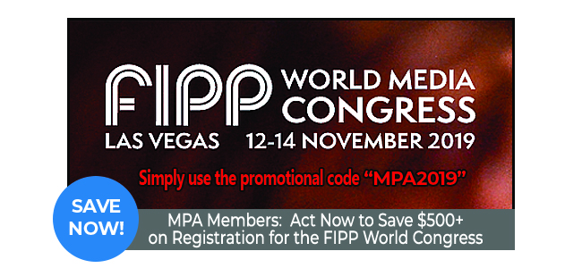 MPA Members: Act Now to Save $500+ on FIPP World Congress Tickets