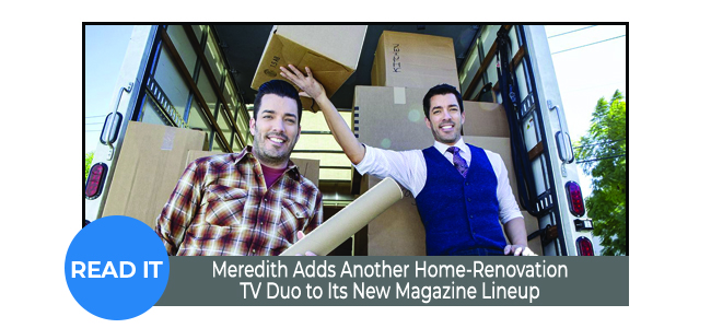 Meredith Adds Another Home-Renovation TV Duo to Its New Magazine Lineup